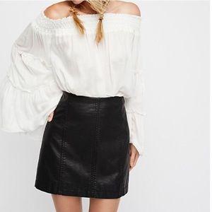 Free People Modern Femme Vegan Leather Skirt Sz 4